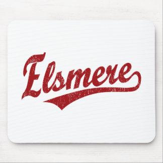 Logotipo de la escritura de Elsmere en rojo Alfombrilla De Raton