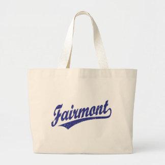Logotipo de la escritura de Fairmont en azul Bolsa