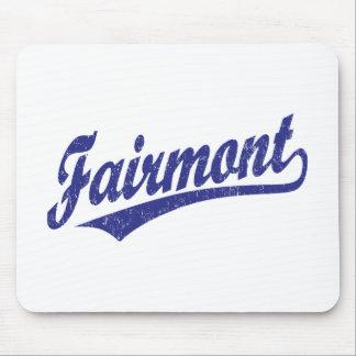 Logotipo de la escritura de Fairmont en azul Tapetes De Ratones