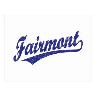 Logotipo de la escritura de Fairmont en azul Postales
