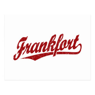 Logotipo de la escritura de Frankfort en el rojo a Tarjeta Postal