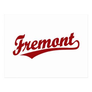 Logotipo de la escritura de Fremont en rojo Tarjeta Postal