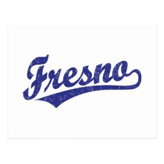 Logotipo de la escritura de Fresno en el azul apen Tarjetas Postales