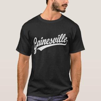 Logotipo de la escritura de Gainesville en blanco Playera