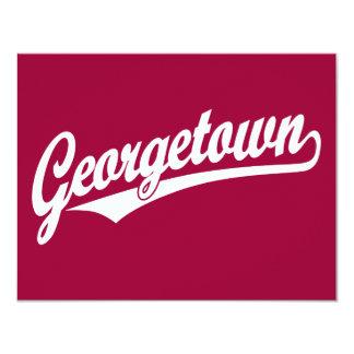 Logotipo de la escritura de Georgetown en blanco