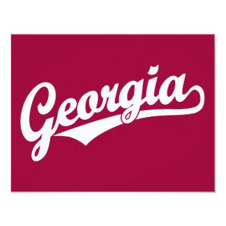 Logotipo de la escritura de Georgia en blanco Invitación 10,8 X 13,9 Cm