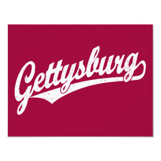 """Logotipo de la escritura de Gettysburg en el Invitación 4.25"""" X 5.5"""""""