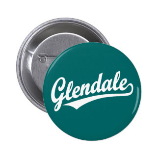 Logotipo de la escritura de Glendale en blanco Pin