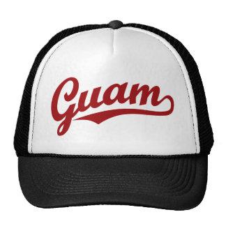 Logotipo de la escritura de Guam en rojo Gorra