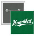 Logotipo de la escritura de Hannibal en el blanco  Pin
