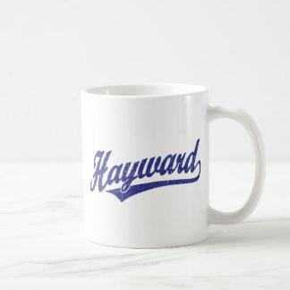 Logotipo de la escritura de Hayward en el azul Taza Clásica