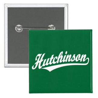 Logotipo de la escritura de Hutchinson en blanco Pin