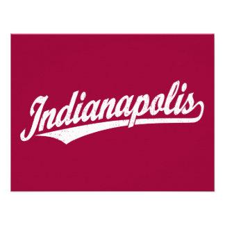 Logotipo de la escritura de Indianapolis en el bla Invitación Personalizada