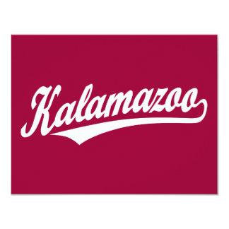 Logotipo de la escritura de Kalamazoo en blanco Invitación 10,8 X 13,9 Cm