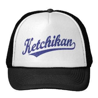 Logotipo de la escritura de Ketchikan en el azul a Gorra