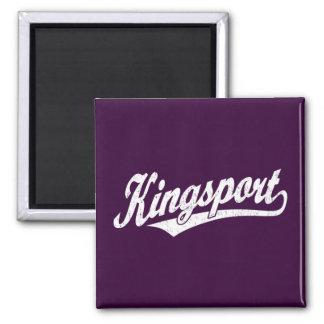 Logotipo de la escritura de Kingsport en el blanco Imán Cuadrado