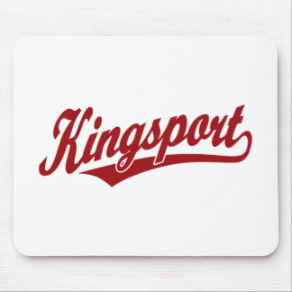 Logotipo de la escritura de Kingsport en rojo Alfombrilla De Raton