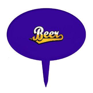 Logotipo de la escritura de la cerveza figuras para tartas