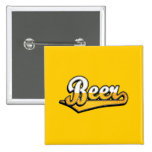Logotipo de la escritura de la cerveza pin