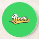 Logotipo de la escritura de la cerveza posavasos diseño