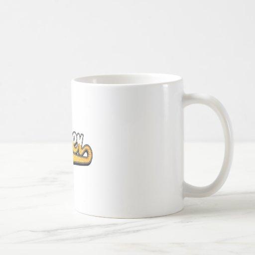 Logotipo de la escritura de la cerveza tazas de café
