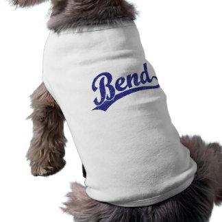 Logotipo de la escritura de la curva en azul playera sin mangas para perro
