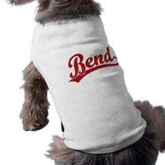 Logotipo de la escritura de la curva en rojo playera sin mangas para perro