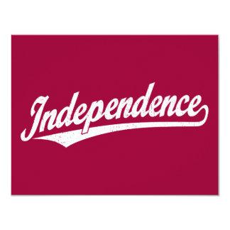 """Logotipo de la escritura de la independencia en el invitación 4.25"""" x 5.5"""""""