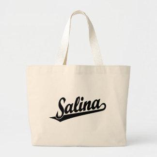 Logotipo de la escritura de la salina en negro bolsa