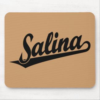 Logotipo de la escritura de la salina en negro tapete de ratón
