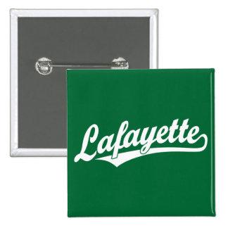 Logotipo de la escritura de Lafayette en blanco Pin