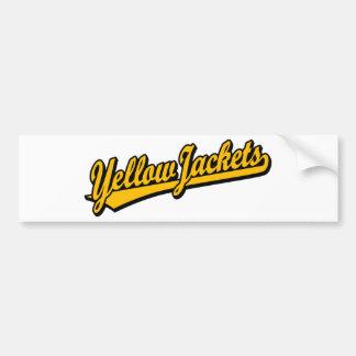 Logotipo de la escritura de las chaquetas amarilla pegatina para auto
