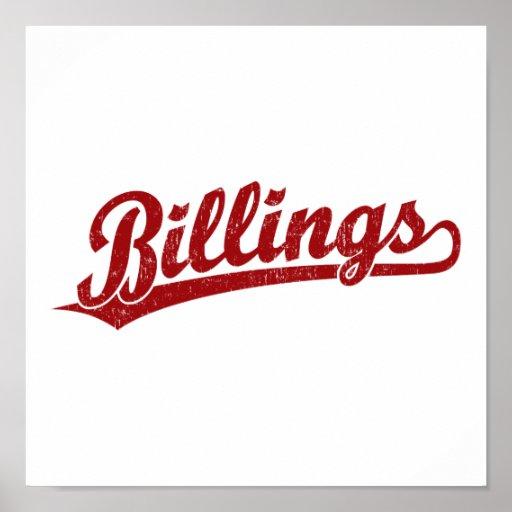 Logotipo de la escritura de las facturaciones en r póster