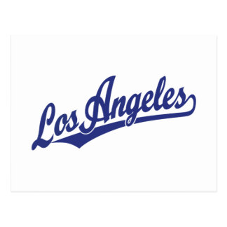 Logotipo de la escritura de Los Ángeles en azul Tarjetas Postales