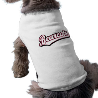 Logotipo de la escritura de los binturong en marró playera sin mangas para perro