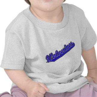 Logotipo de la escritura de los carcayúes en azul camiseta