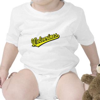 Logotipo de la escritura de los carcayúes en oro trajes de bebé