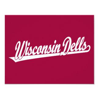 Logotipo de la escritura de los Dells de Wisconsin Invitacion Personalizada