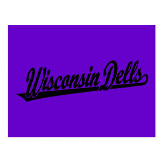 Logotipo de la escritura de los Dells de Wisconsin Tarjeta Postal