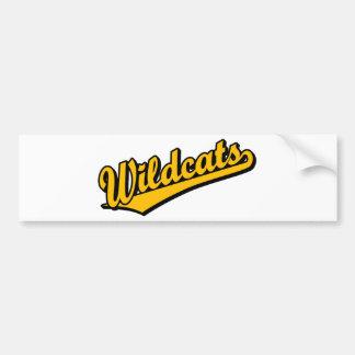 Logotipo de la escritura de los gatos monteses en  pegatina de parachoque