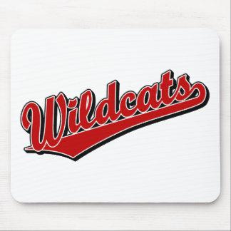 Logotipo de la escritura de los gatos monteses en  alfombrilla de ratones
