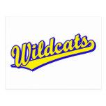 Logotipo de la escritura de los gatos monteses en  tarjeta postal