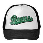 Logotipo de la escritura de los osos en verde gorros