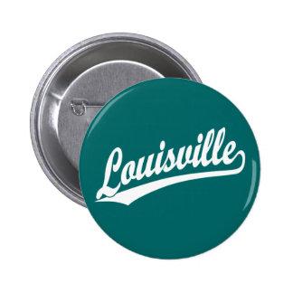 Logotipo de la escritura de Louisville en blanco Pins