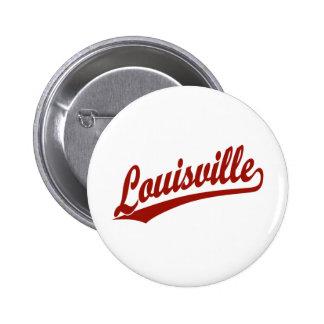 Logotipo de la escritura de Louisville en rojo Pins