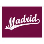 Logotipo de la escritura de Madrid en el blanco ap Tarjeta Publicitaria