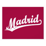 Logotipo de la escritura de Madrid en el blanco Invitación Personalizada