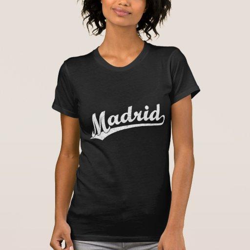 Logotipo de la escritura de Madrid en el blanco Camiseta