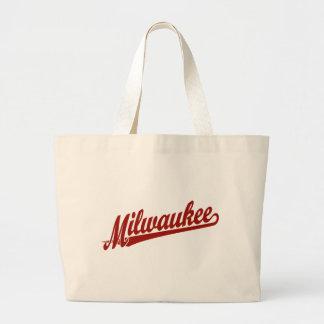 Logotipo de la escritura de Milwaukee en rojo Bolsa