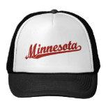 Logotipo de la escritura de Minnesota en rojo Gorro
